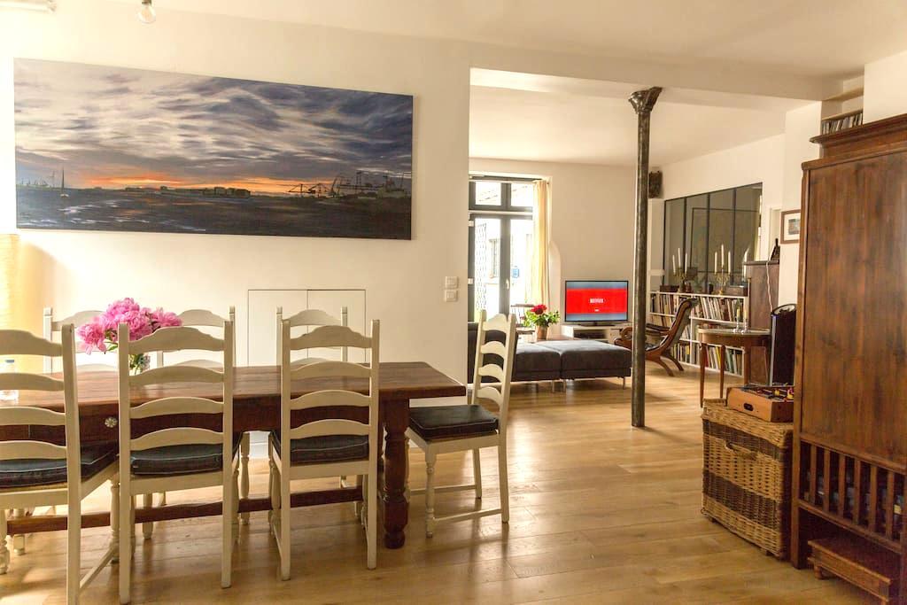 Spacious Family loft 130 m2 4BR/2BA - Paris