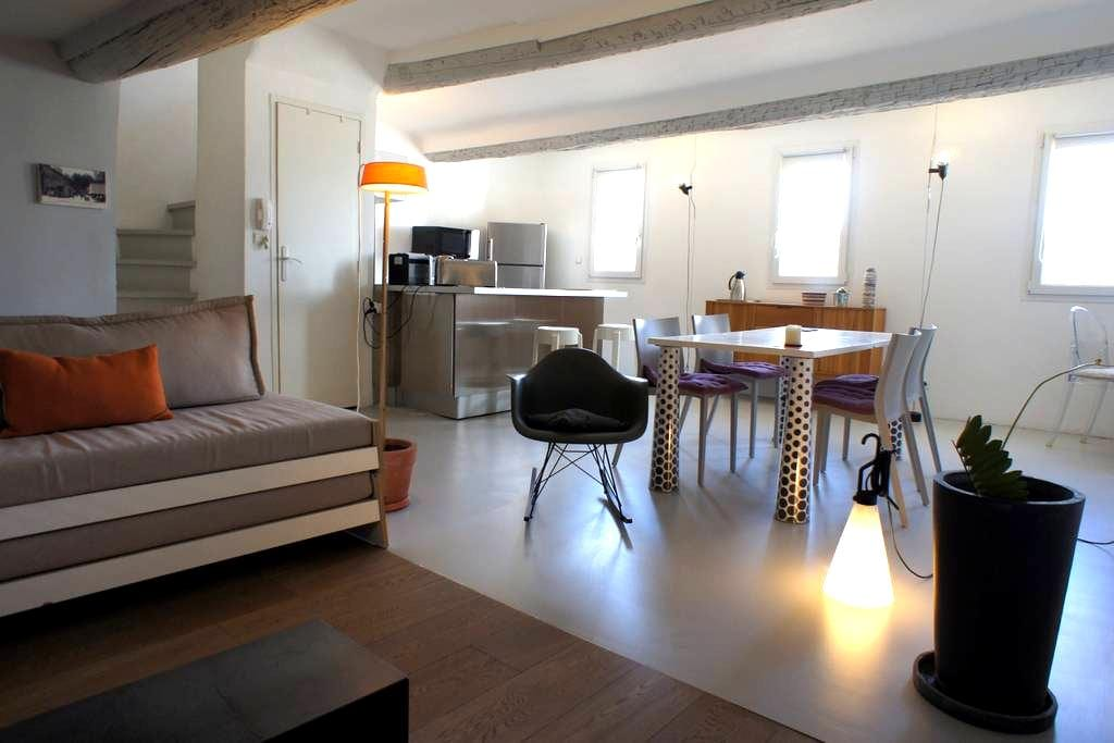 Duplex under the roofs - Old Aix - Aix-en-Provence - Loft