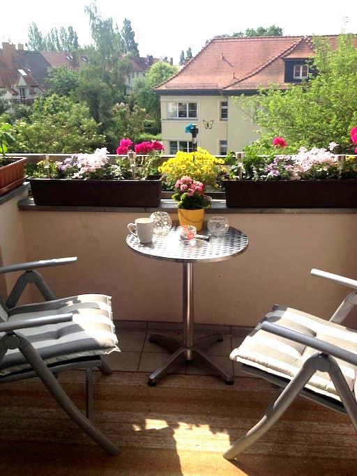 Gemütliche,helle Wohnung mit Balkon - Leipzig - Apartment