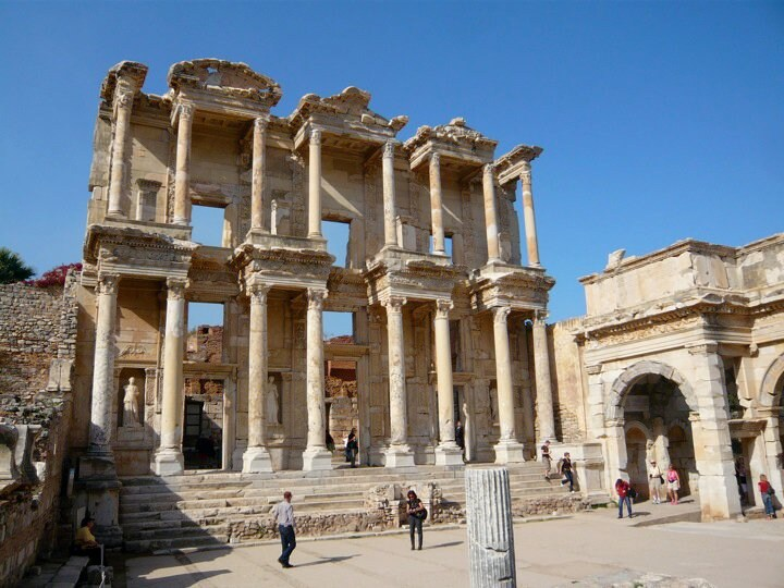 Ephesus is a 10 minute drive by dolmuş or taxi