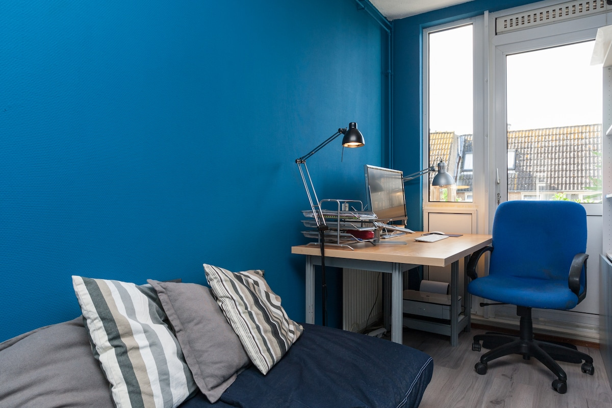 2nd bedroom, accomodates office and storage for your personal belongings.