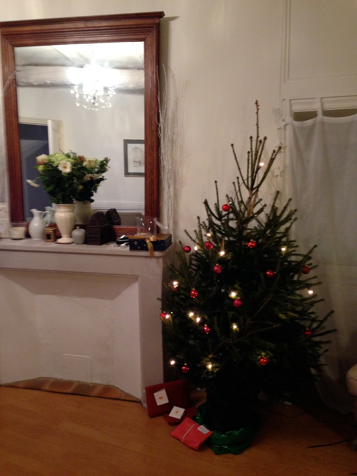 special Souillac Tower house Christmas- can't beat the real pine scent