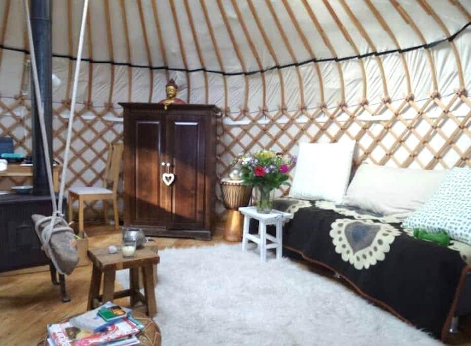Authentieke Yurt, in de natuur | Aanbevolen! - Laag-Soeren - Jurte