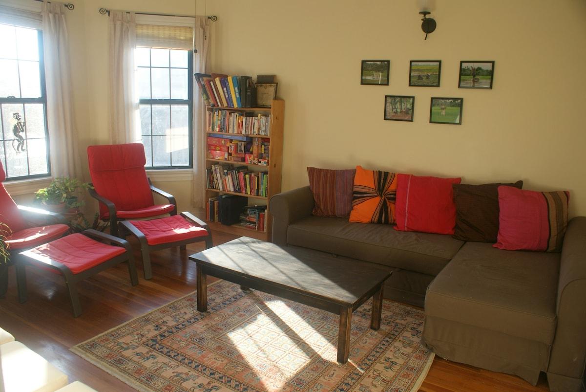 Quiet, spacious condo near Red Line