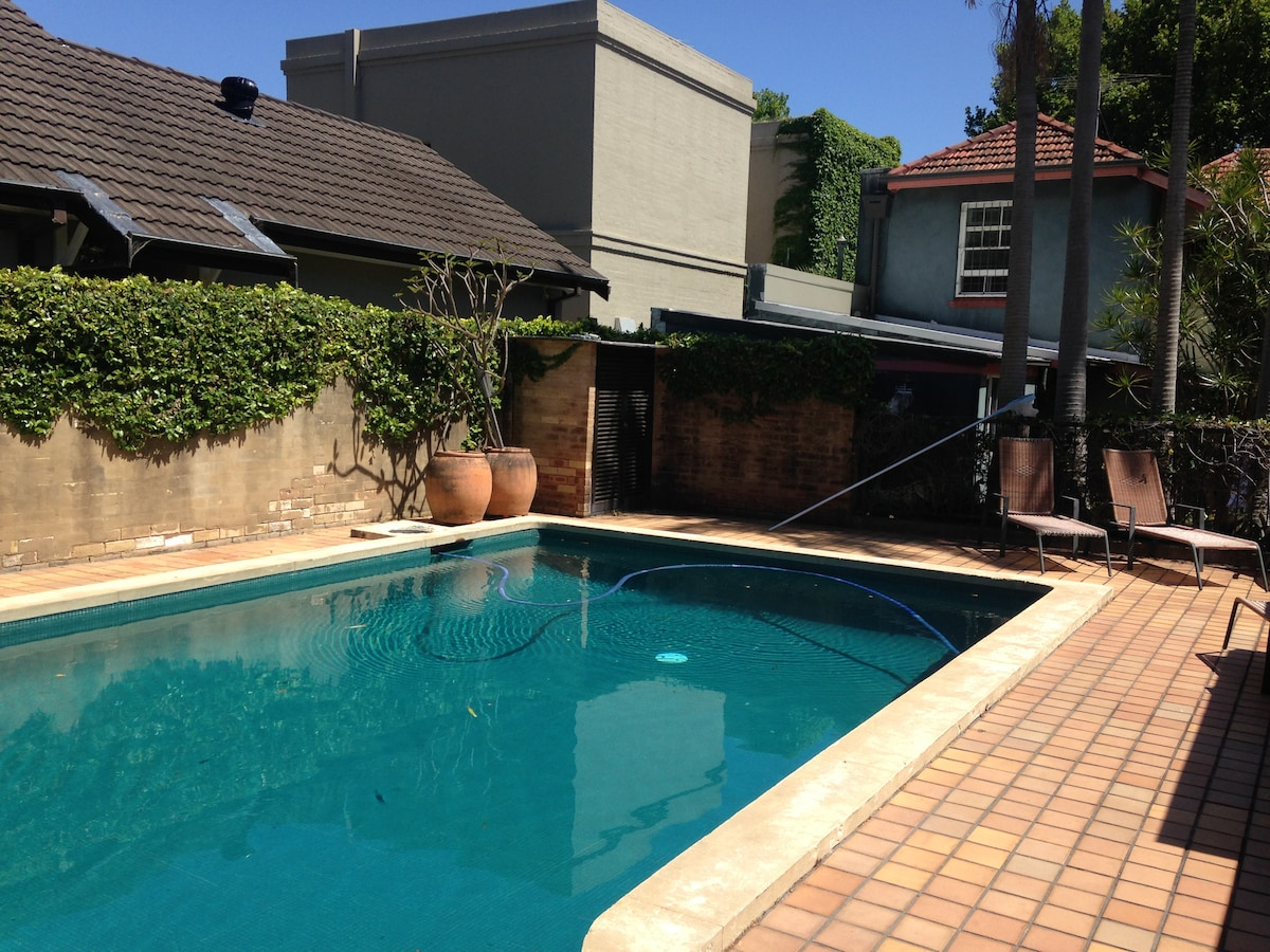 Spacious 1BD with private pool
