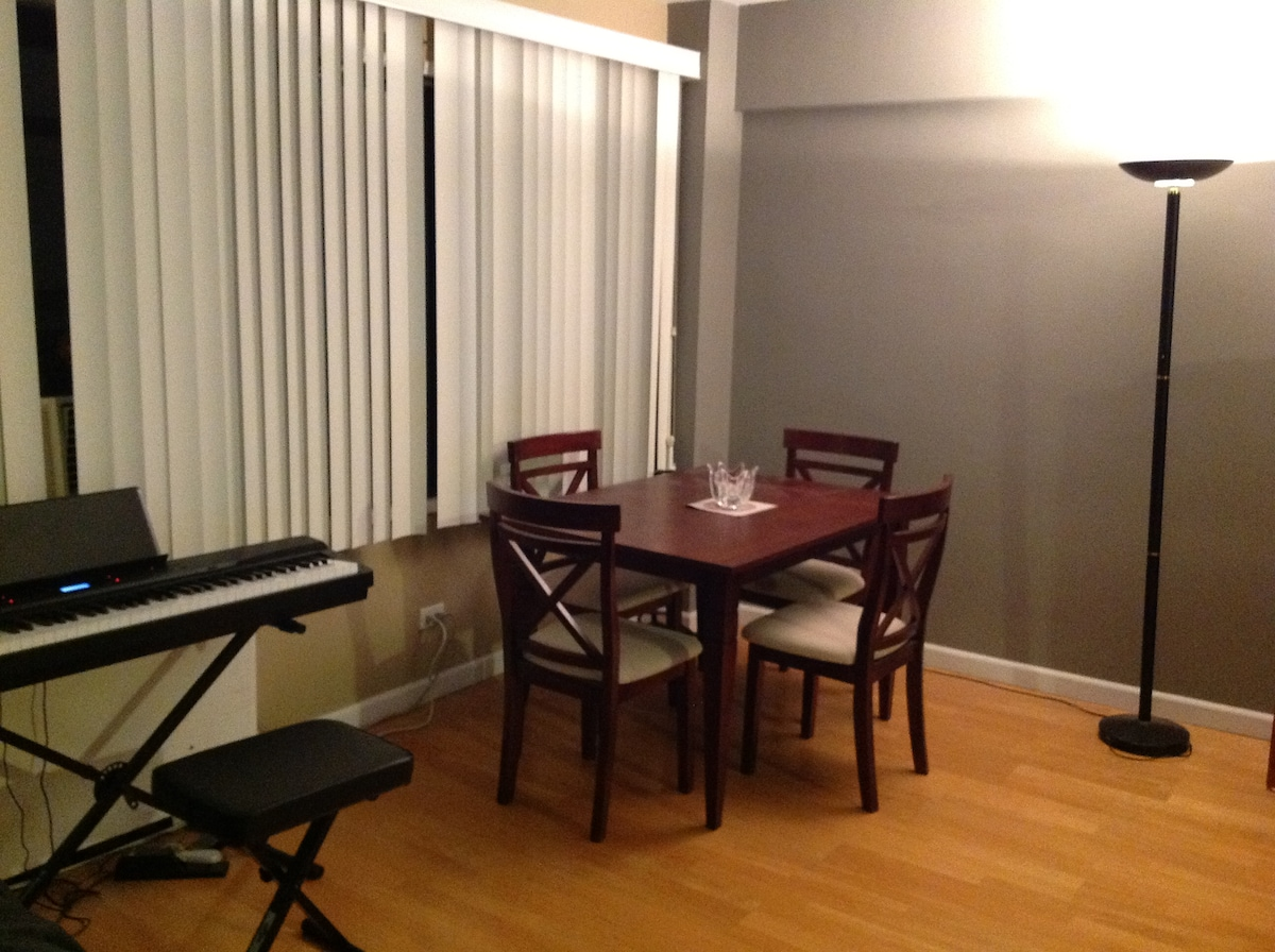 Dining table from a far corner