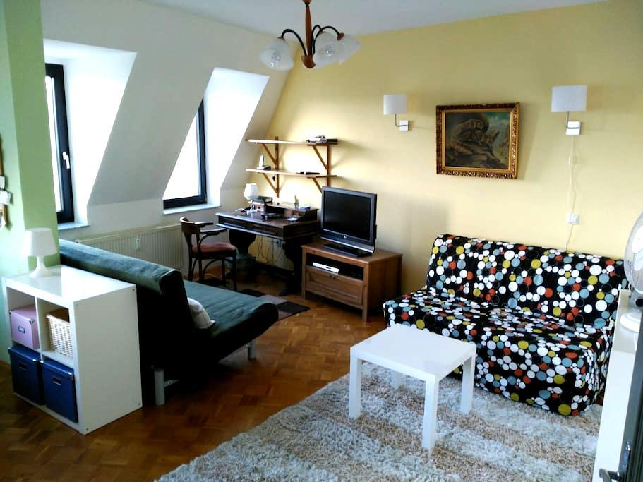 Dignified attic apartment (2 rooms) at the park - Leipzig - Apartamento
