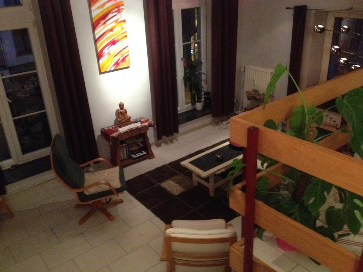 Beautiful split level apartment
