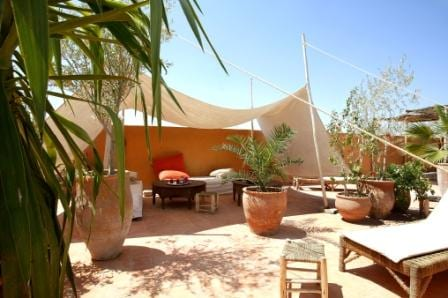 Riad O²'s roof terrace
