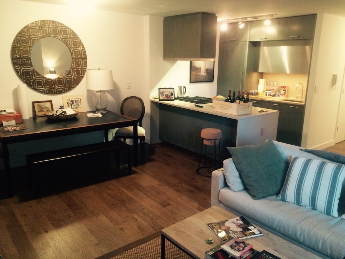 Furnished 1 bdrm in Luxury Building