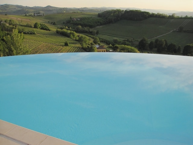 infinitive pool in front of  piedmont hills