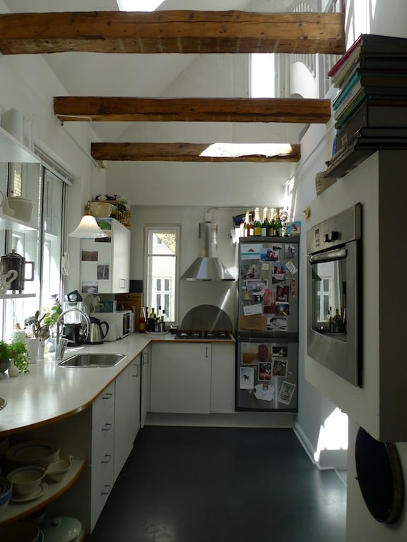 A wonderful kitchen with old wood structure