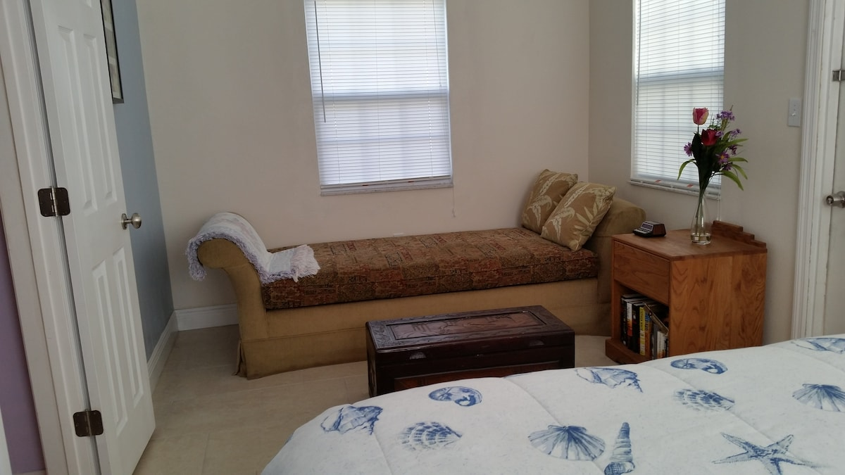 The east bedroom also has a day bed perfect for napping or a 5th guest!