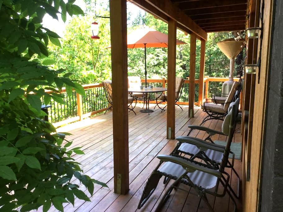 Log home with city view! - Medford - House