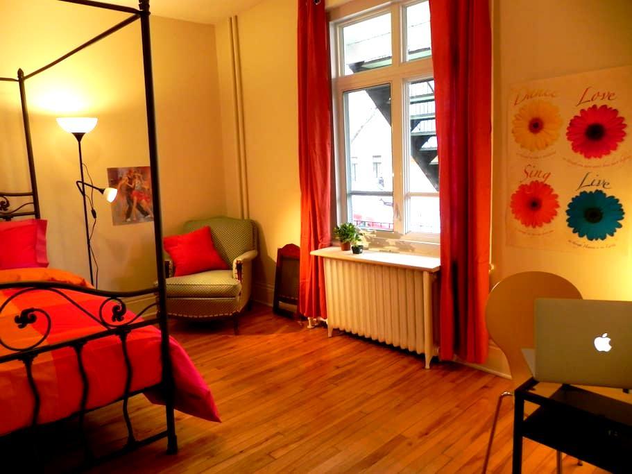 Cocon moelleux Good Vibe Plein Centre Montcalm ;-) - Ville de Québec - Apartamento
