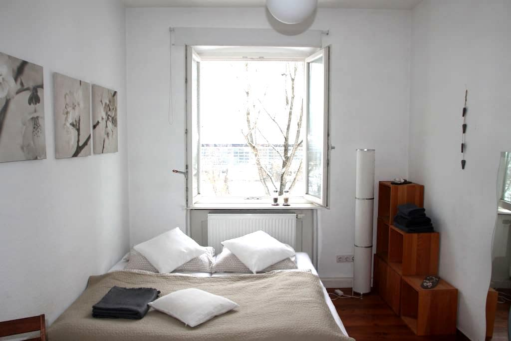 Lovely room (Art Nouveau) with riverview (central) - Bamberg - Osakehuoneisto