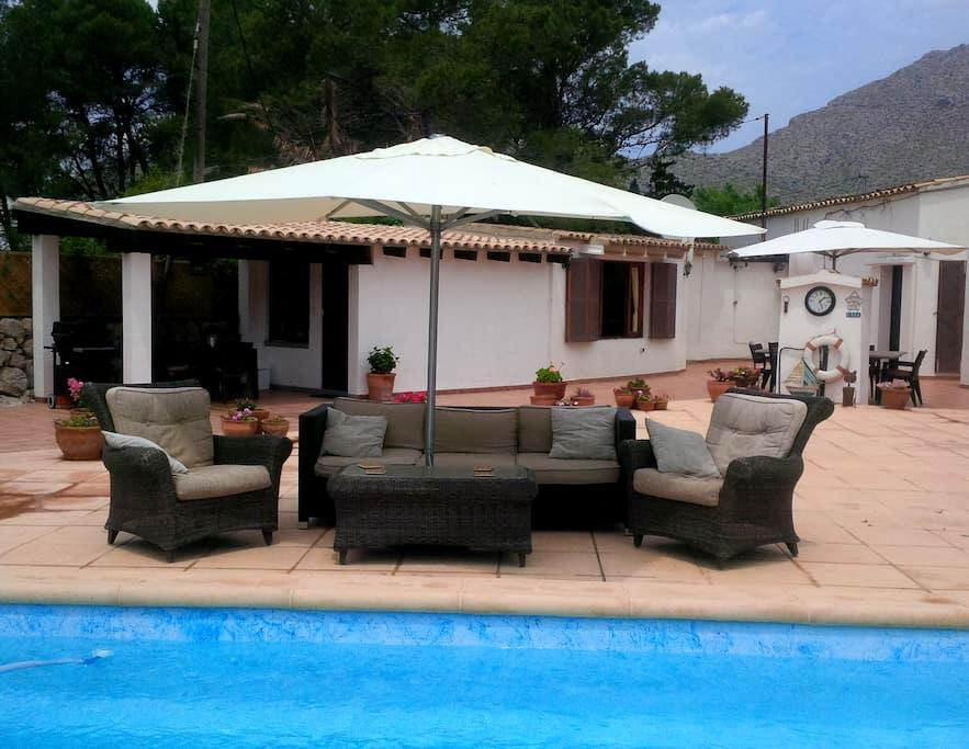 Prvt Annex, Htd pool, Jacuzzi, air con, wifi - Pollença - Huis