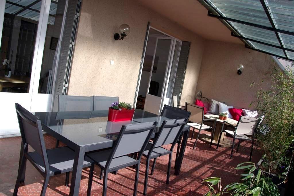 Superbe appart avec grande terrasse - Rodez - Byt