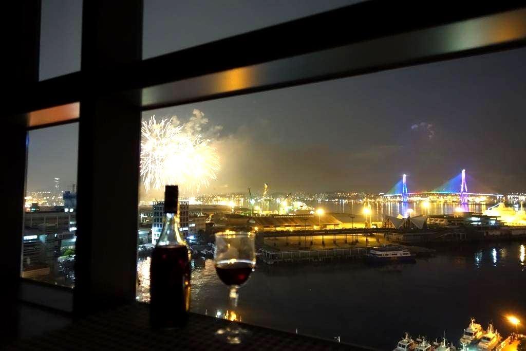 #2 Awesome ocean view & bridge (5min. Busan Stn) - Jung-gu - Appartement
