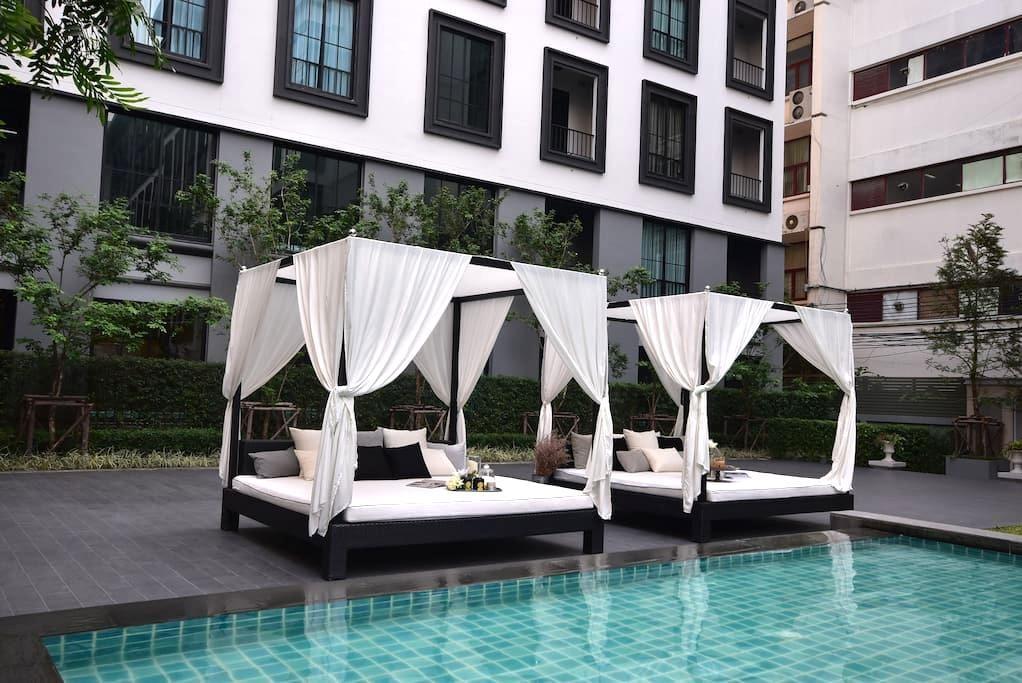 Luxury Condo 5mins walk to BTS,Siam,Wifi - Bangkok - Lyxvåning
