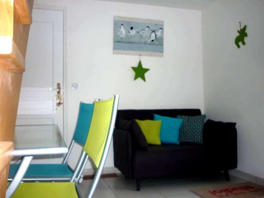 Studio duplex neuf avec terrasse et jardin - Plescop - Huis