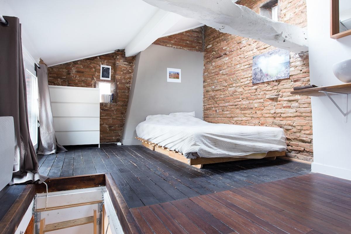 Charming Duplex—Carmes Ozenne 28m²