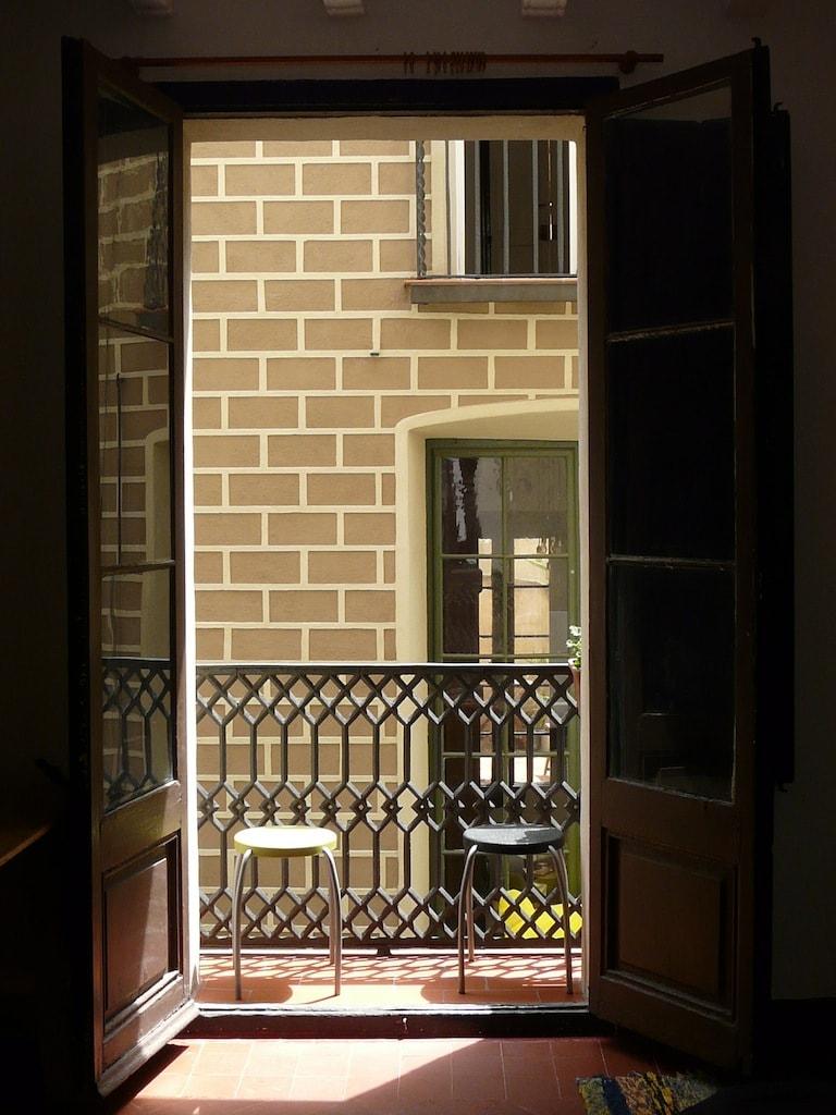 room's window and balcony