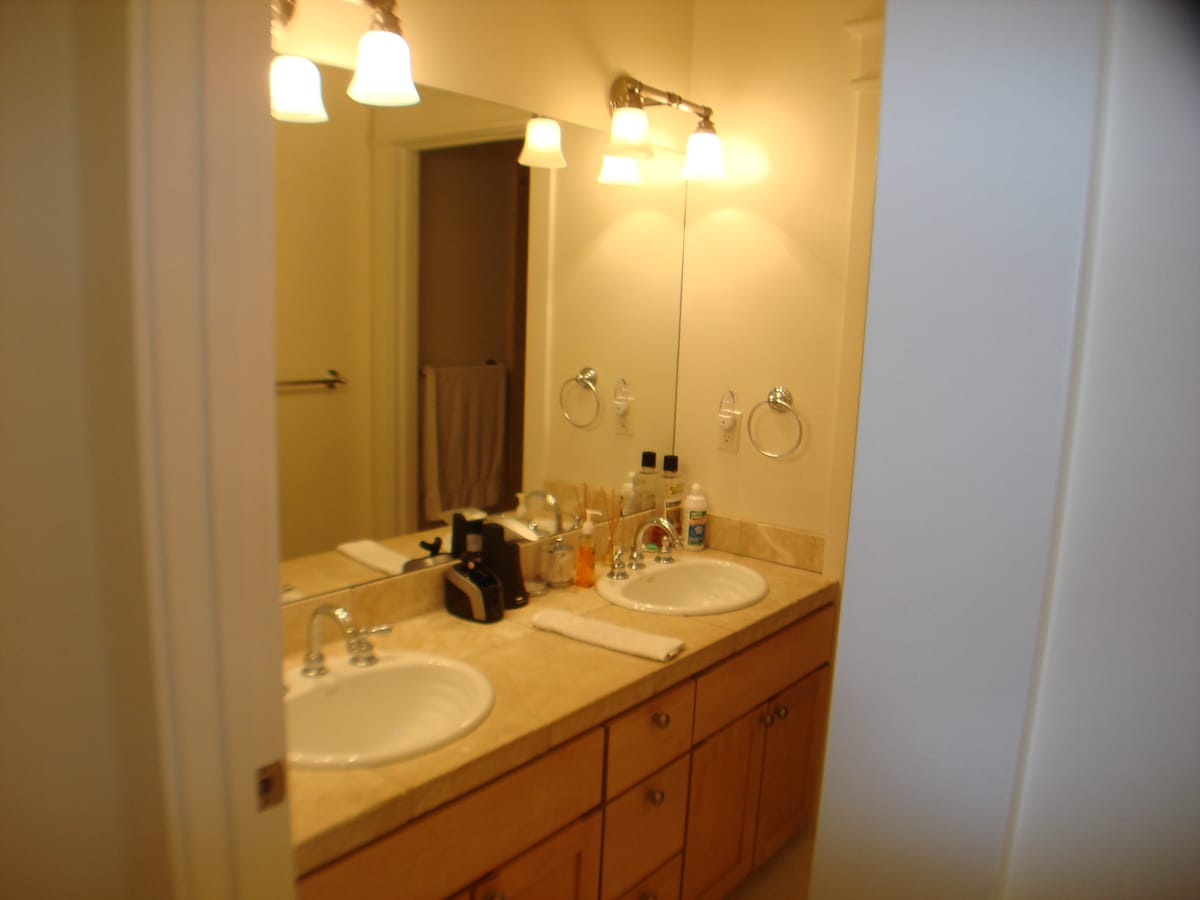 Marble guest bathroom - shared with 1 person who is never there