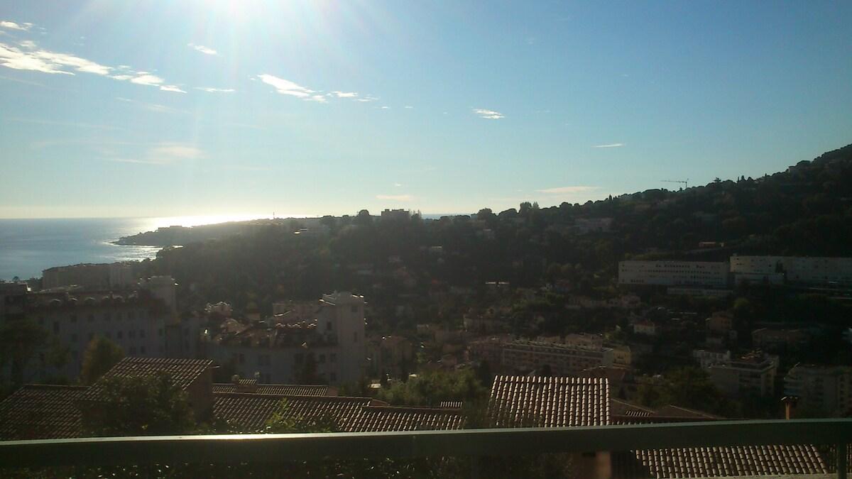 belle vue sur Menton et Roquebrune