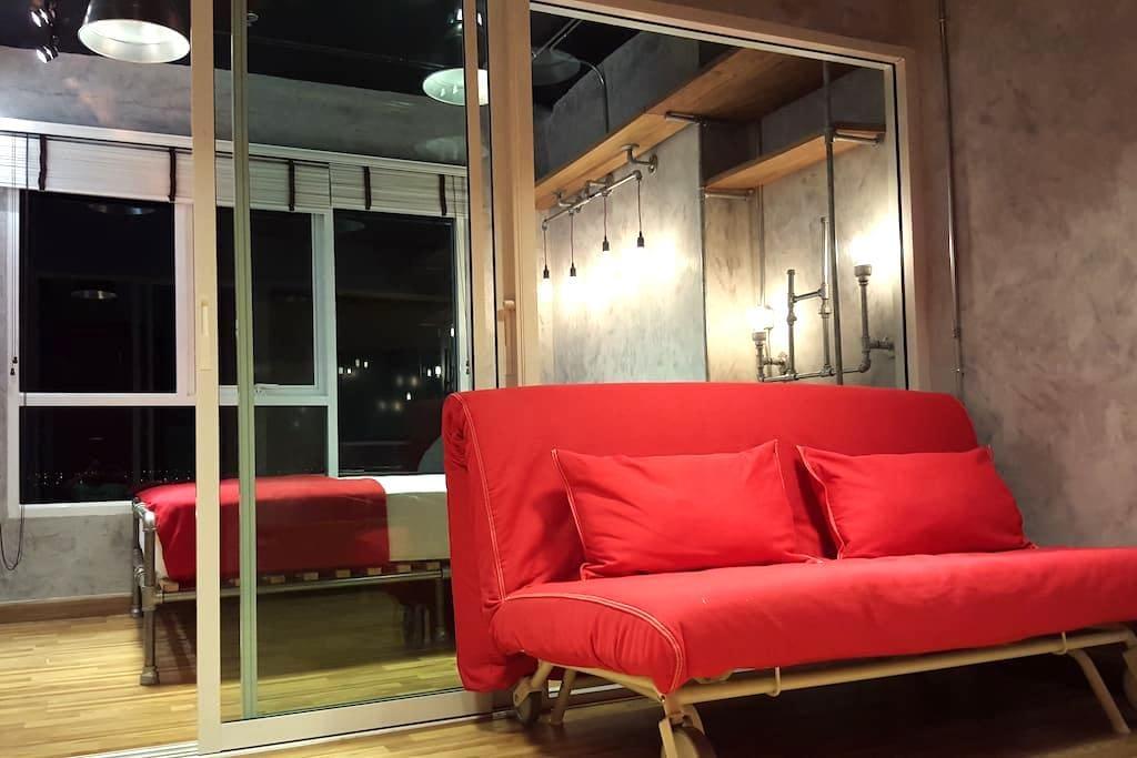 Cozy Loft 212 | 2Guest | 5 mins BTS Skytrain |WIFI - Bangkok - Wohnung