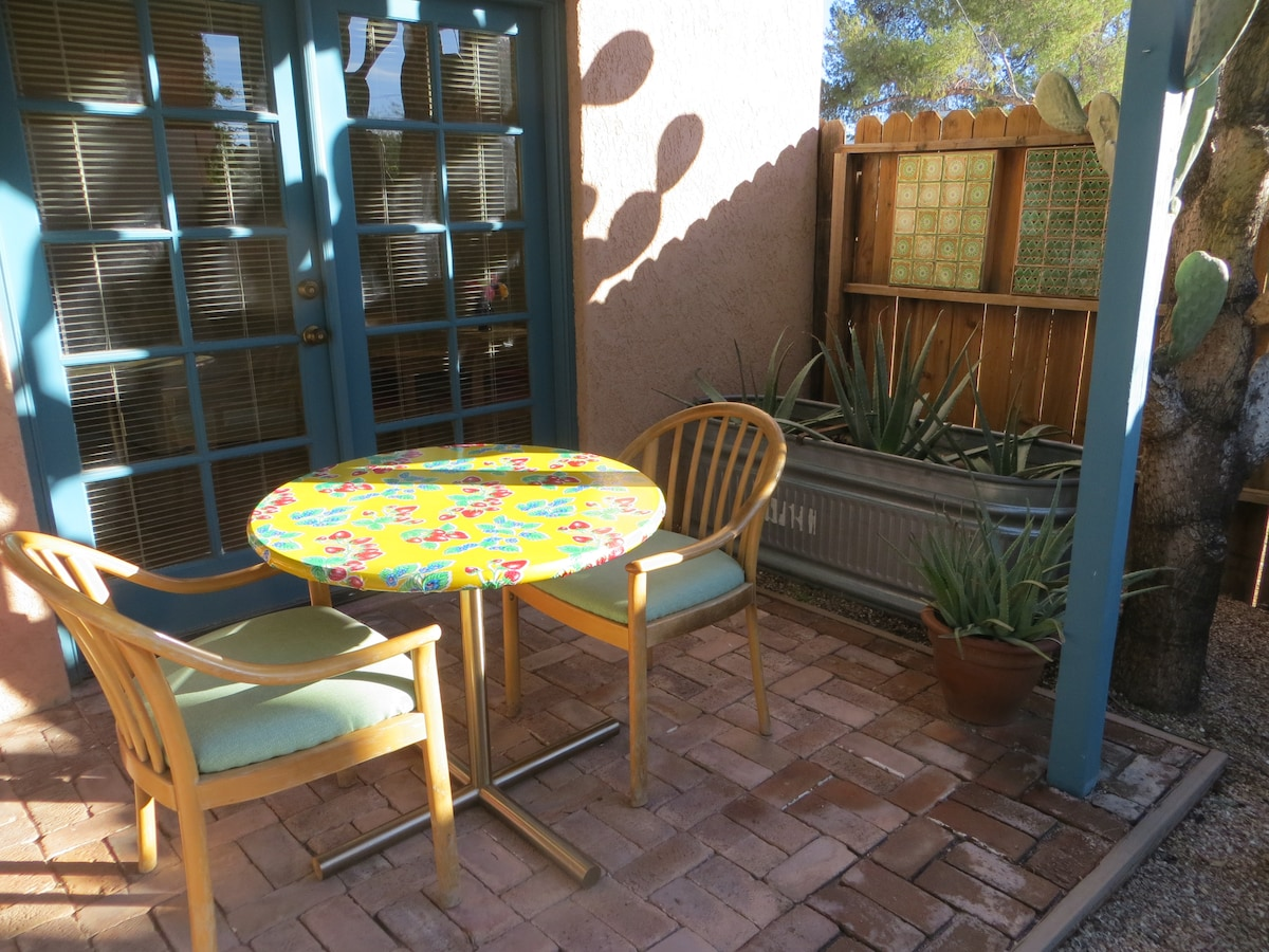 The porch is a good place to enjoy the Arizona sunshine.