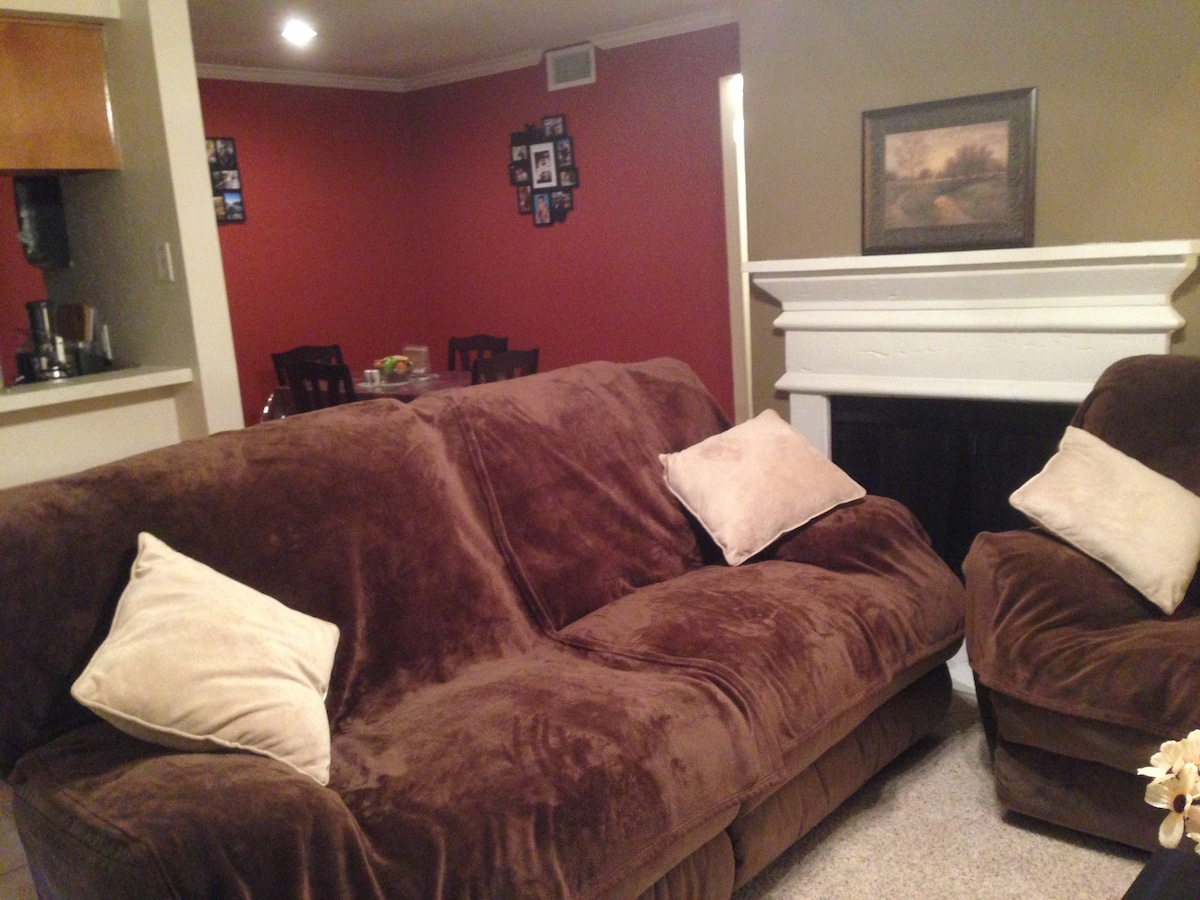 Cozy Sofa 5 mins from DFW Airport