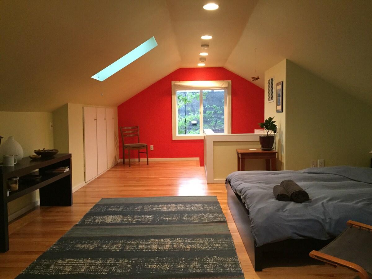Large sunny room+Bath, SE Division