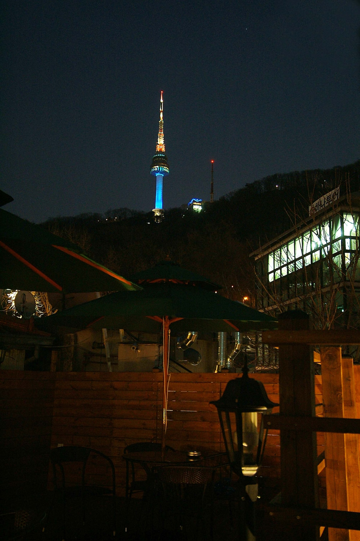 Namsan Tower in our Roof Top