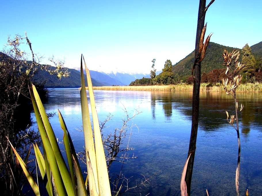 Nelson Lakes. Hidden Treasure Bach - Rotoroa - Kisház