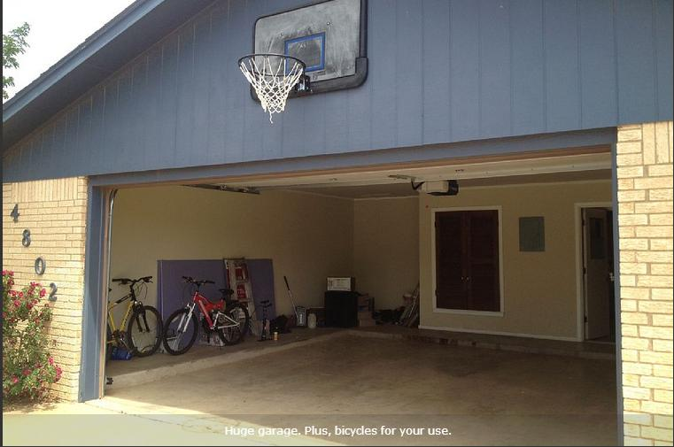 Huge garage. Plus, bicycles for your use.