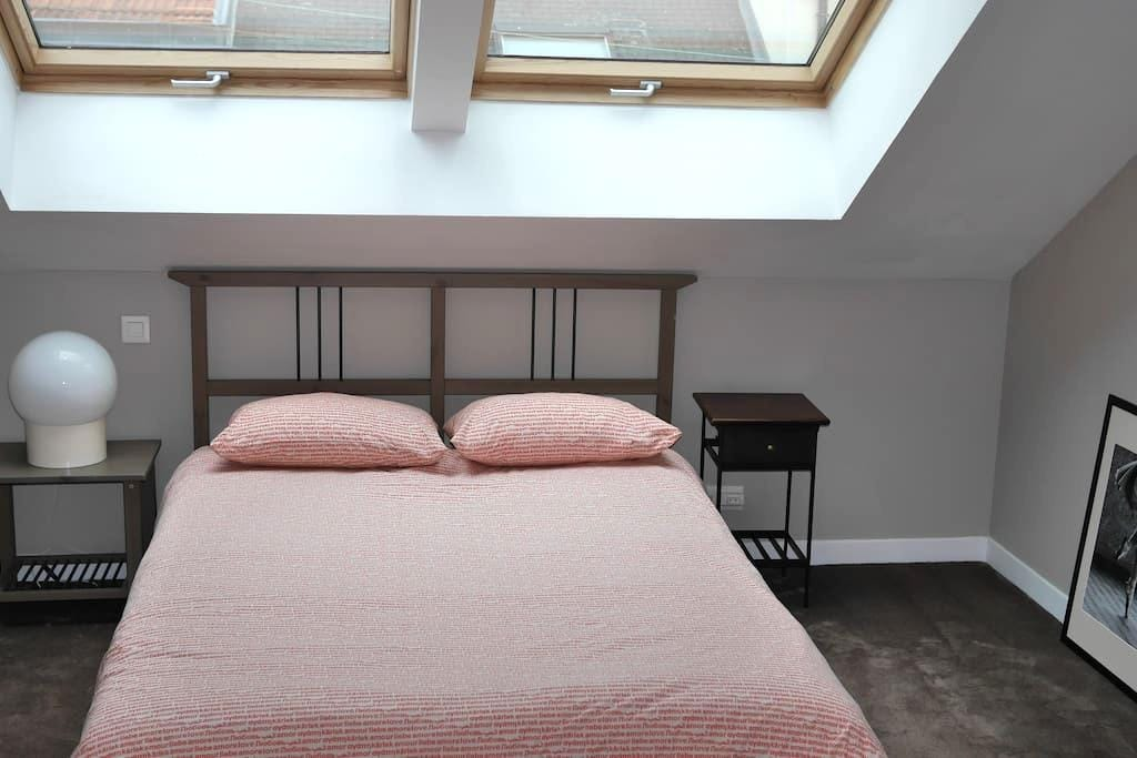 Chambre spacieuse avec S de B et toilettes privées - Reims - Bed & Breakfast