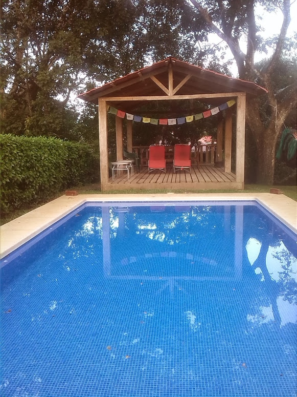 Large private pool and shade house, great for relaxing by night or day