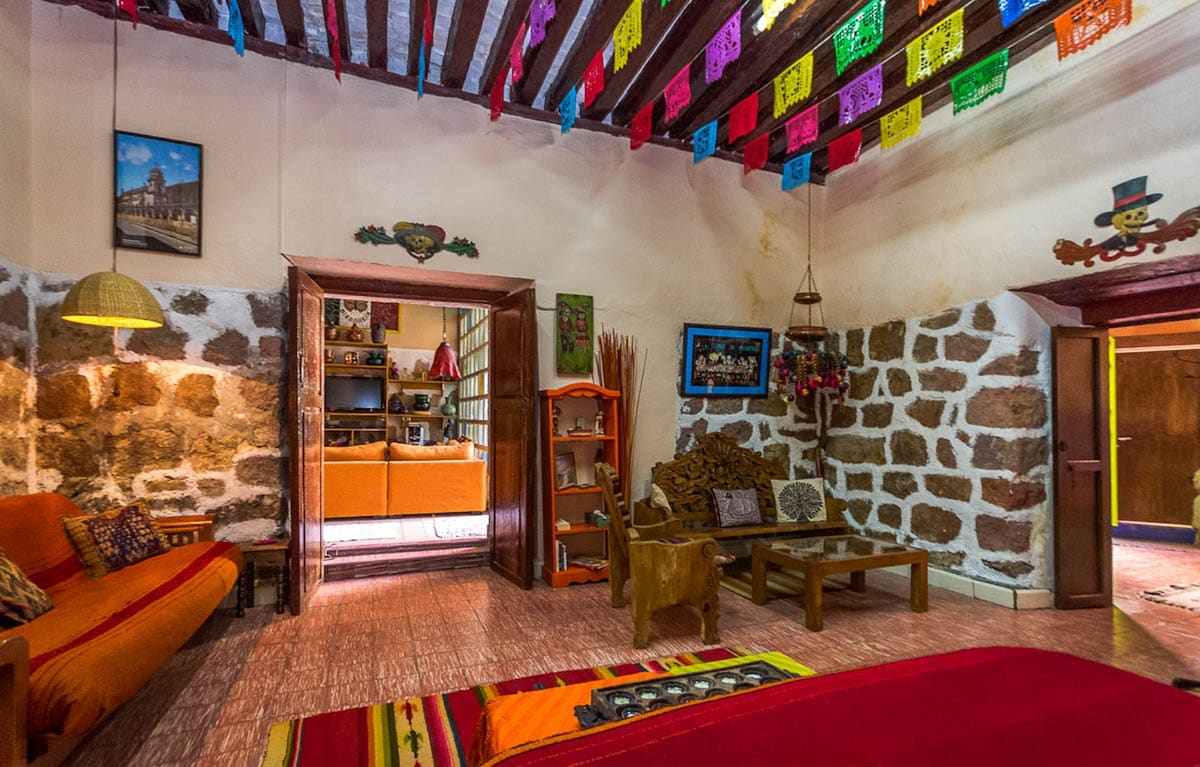 Patzcuaro Suite's door facing community room