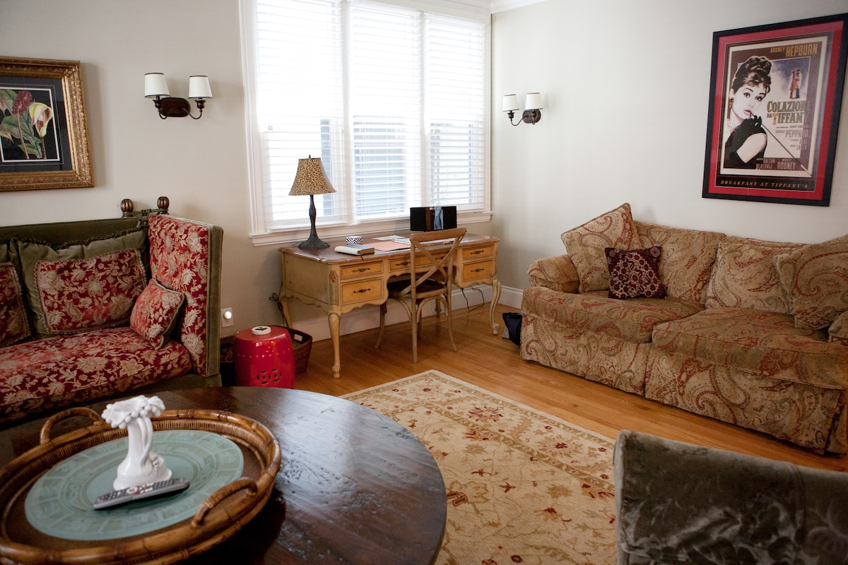 Living Room, brown sofa bed for two
