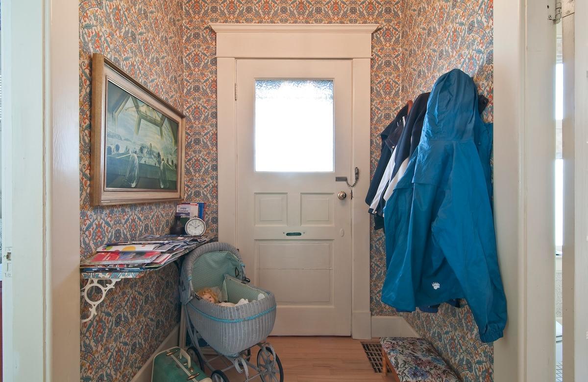 Hallway between Queen Room and bath (this doorway is not used)