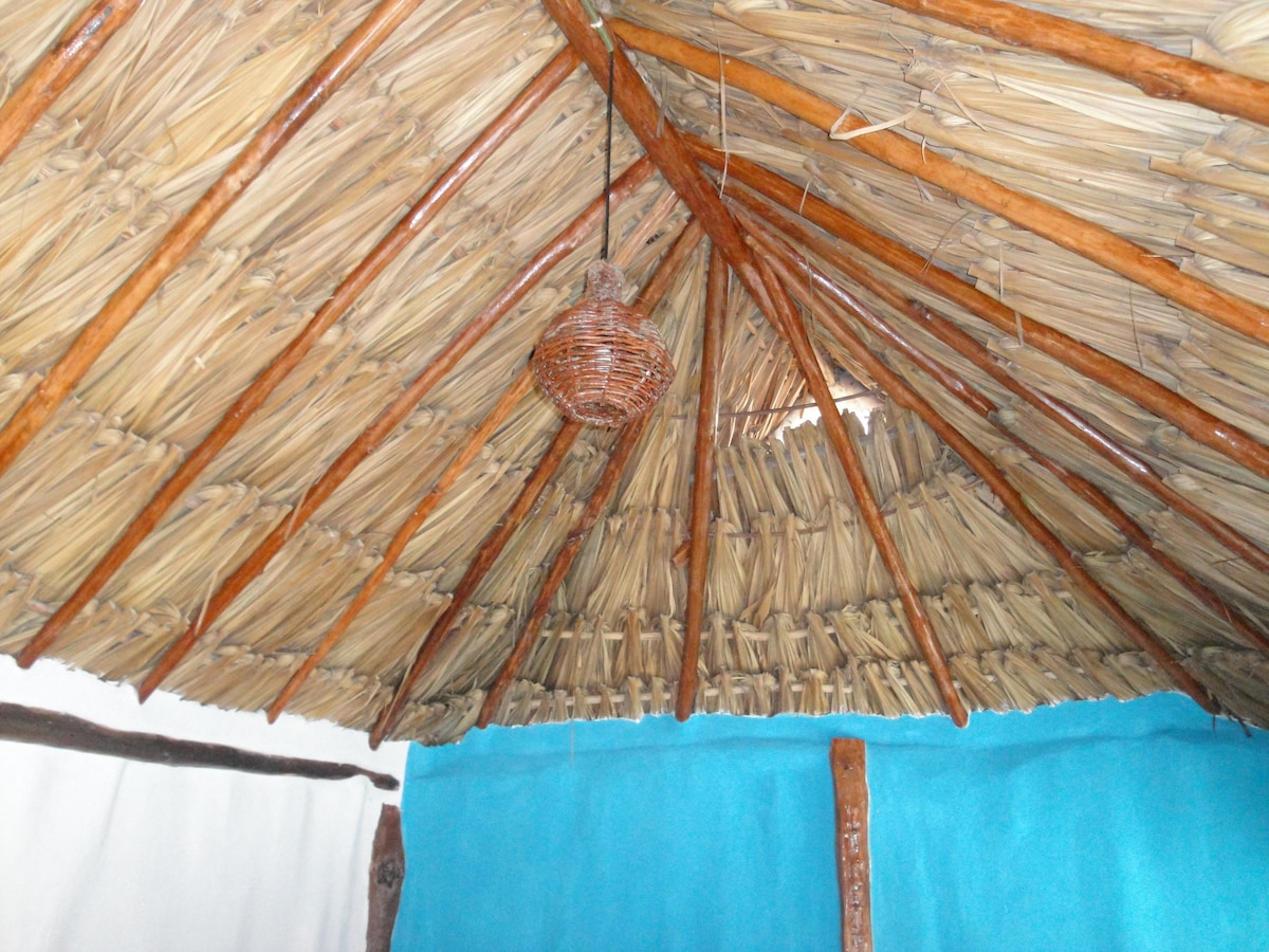 Handcrafted thatched roof