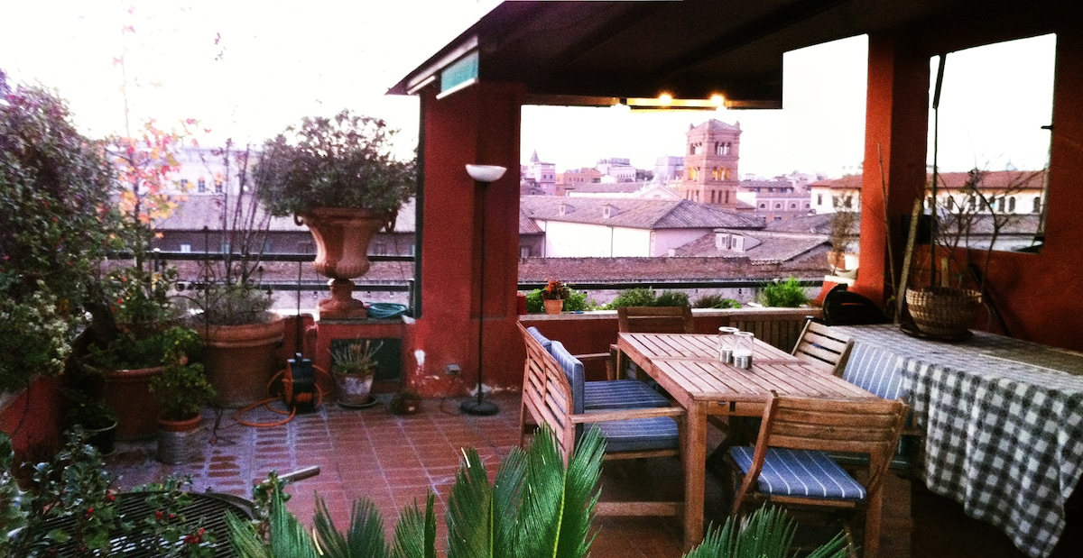 This is where to relax after the visiting historic Rome - that starts just below us