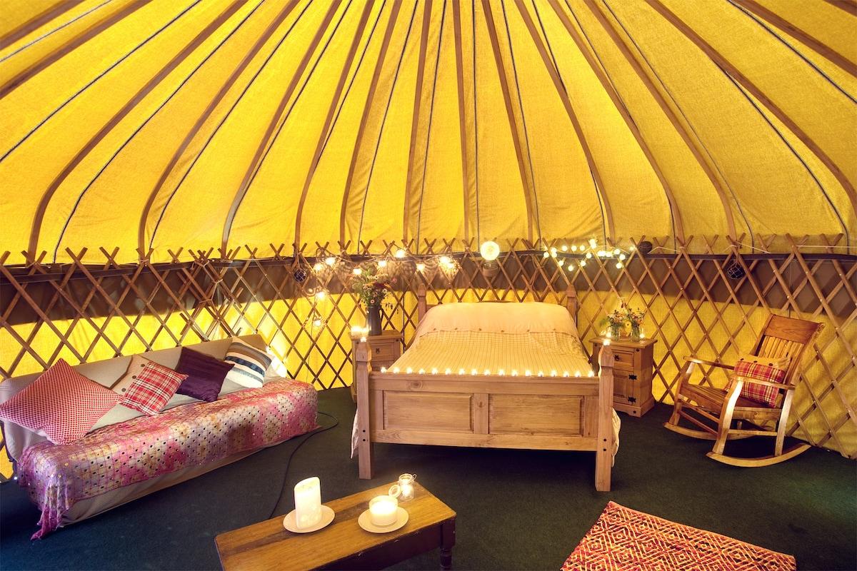 Fantastic yurt in coastal setting