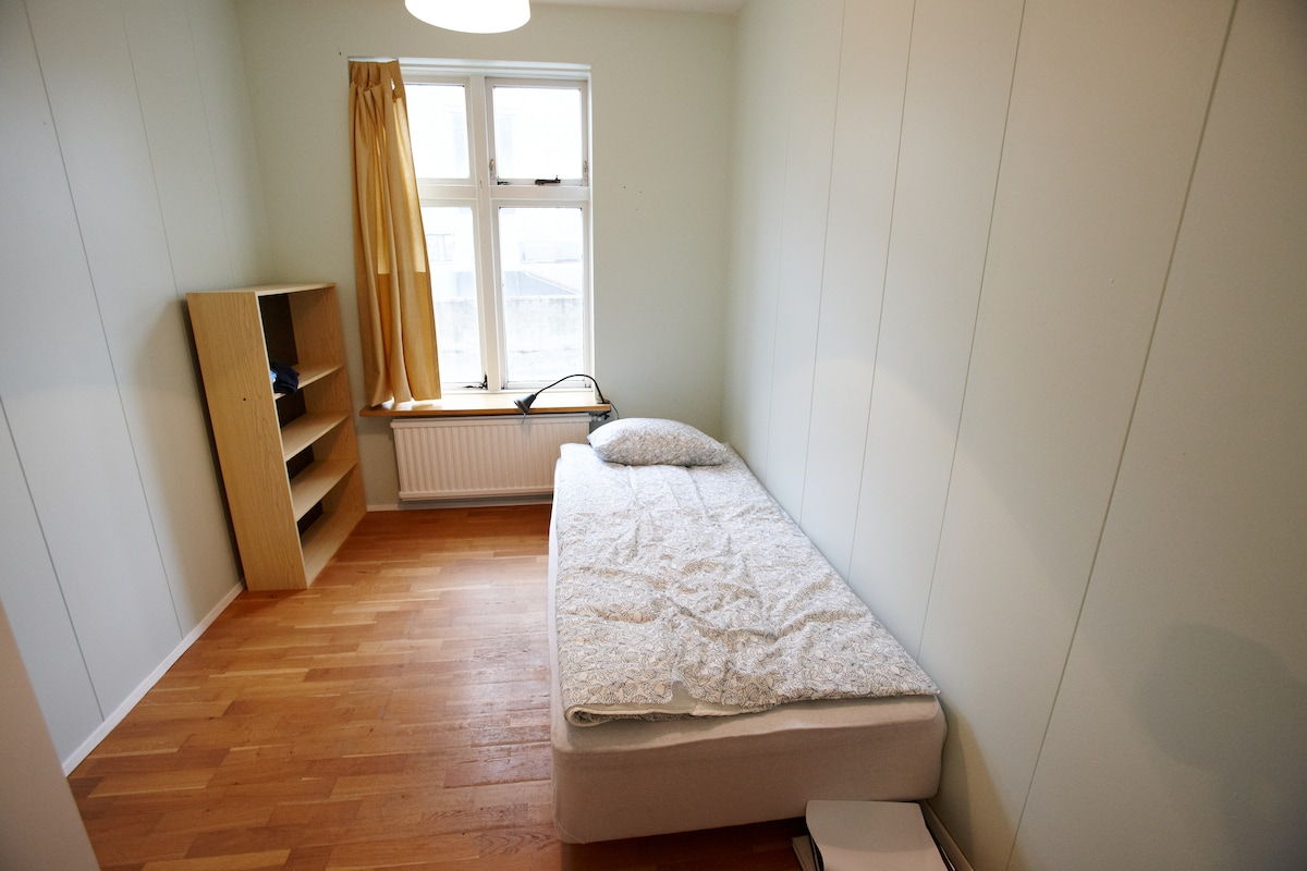 one of the smaller bedrooms