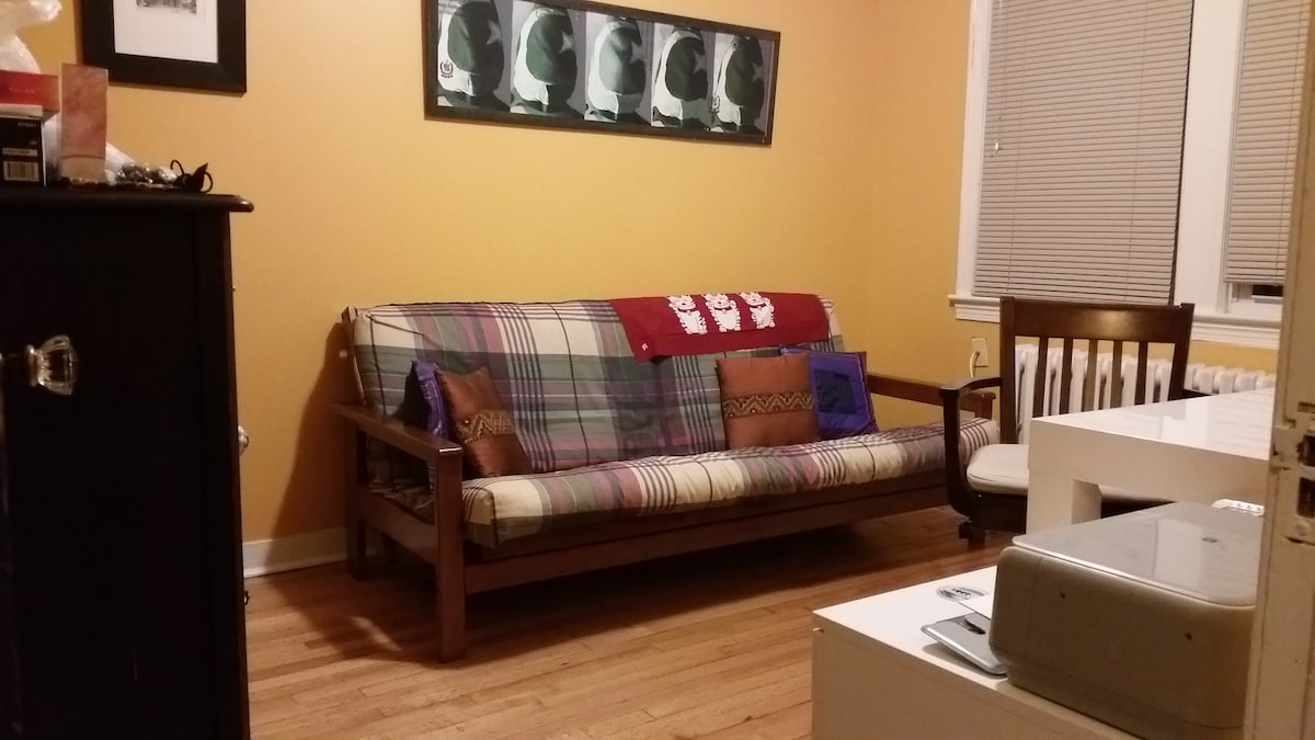 Spare bedroom (with comfortable futon  &  handsome desk!)