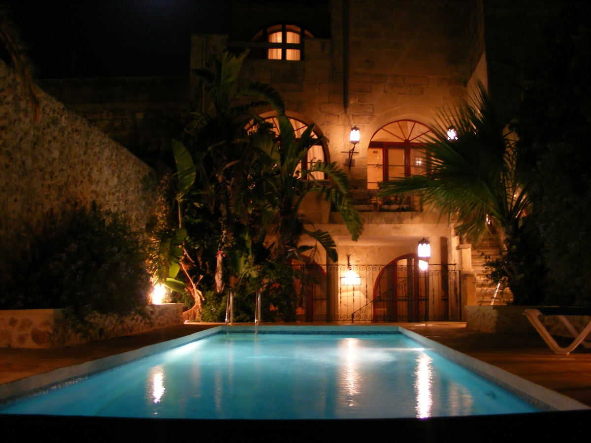 private villa with secluded pool