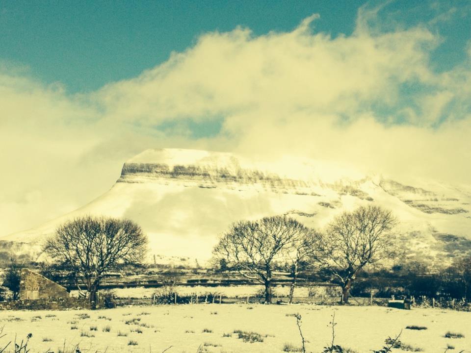 Beautiful Benbulben Mountain