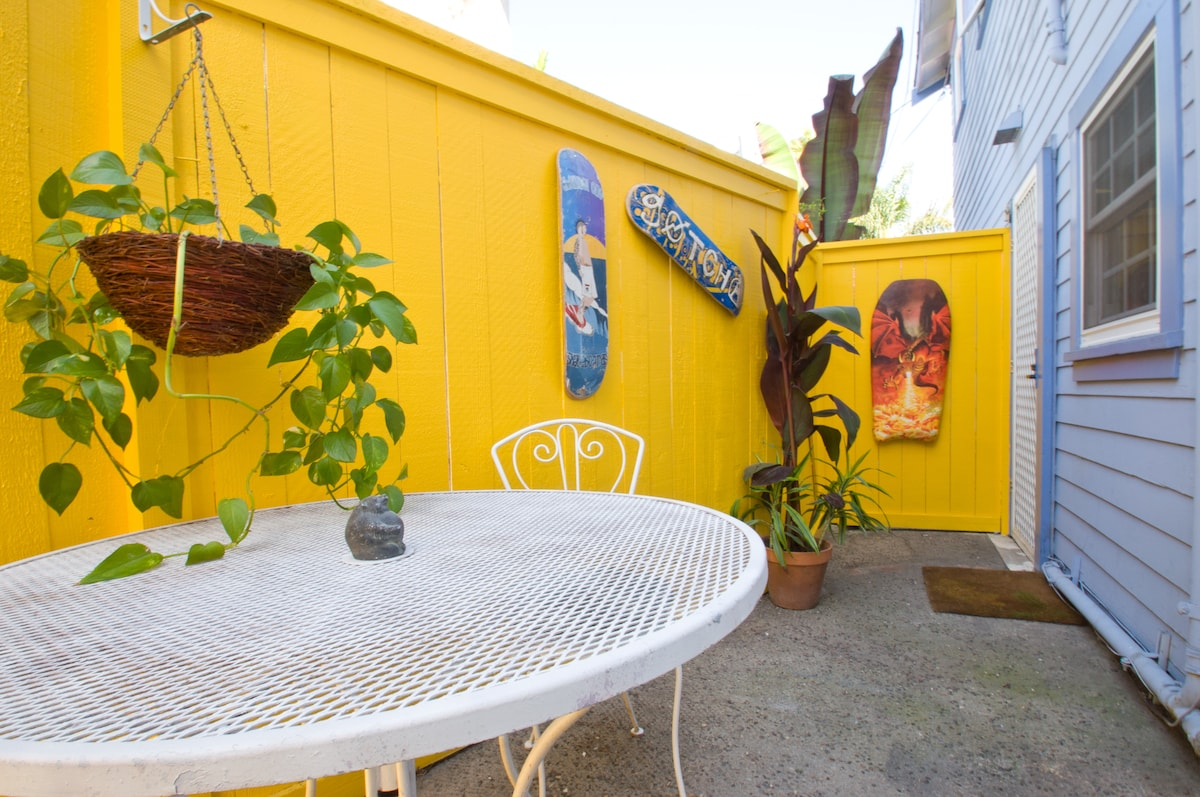 Relax on the private patio, read the paper, work or have a romantic outdoor dinner