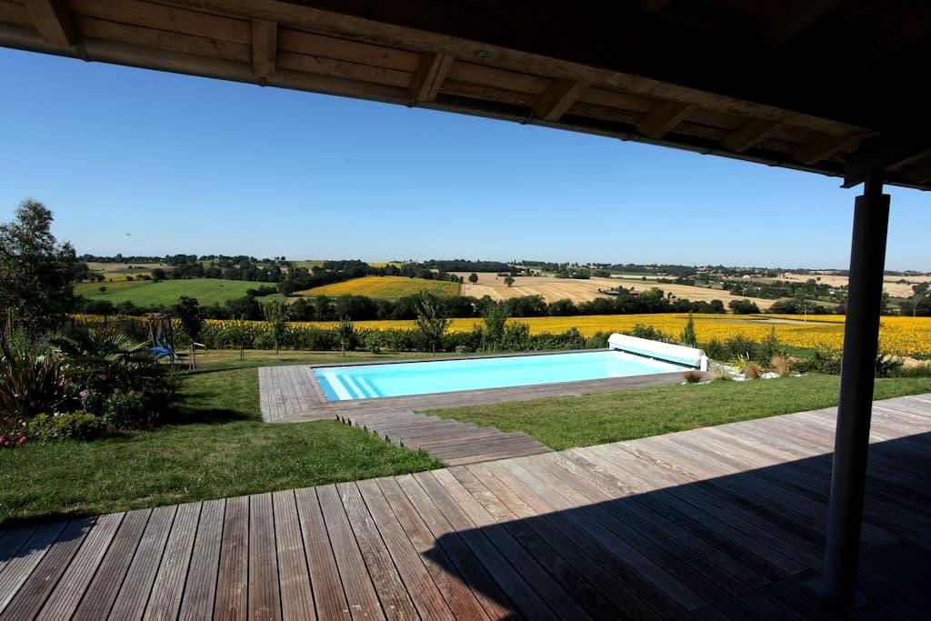 Maison Gers piscine proche TOULOUSE Sud-Ouest - Clermont-Savès